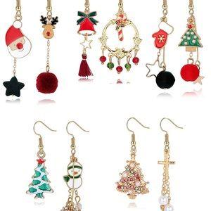 5 Pairs Christmas Earrings